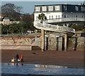 SX9163 : Footbridge and beach, Torre Abbey Sands : Week 50