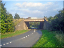 SK4565 : Motorway bridge at Stainsby by Trevor Rickard