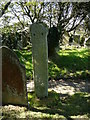 SW9558 : Ancient cross, St Dennis Churchyard by Colin Park