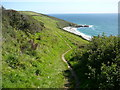 SX0040 : Coastal path above Vault Beach by Colin Park