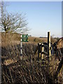 SU2694 : Footpath signs beside the B4019 by andrew auger