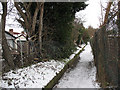 This surfaced path leads eastwards to Kemnal Road.
