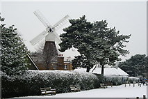 TQ2372 : Wimbledon Common Windmill by Peter Trimming