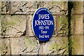 Photo of James Johnston blue plaque
