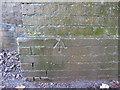 SJ4469 : Rivet bench mark in Station Lane by John S Turner