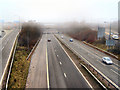 SD8205 : M60, M62, M66 Junction (Simister Island) by David Dixon
