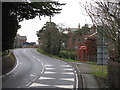 SJ7061 : Warmingham - Main Road & Telephone Box by Peter Whatley