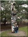SE2812 : Yorkshire Sculpture Park Totem Pole by John Fielding