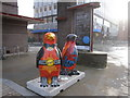 SJ3589 : Go Penguins outside the Philharmonic Hall by John S Turner