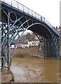 SJ6703 : The Iron Bridge from the south bank of the Severn by Andy F