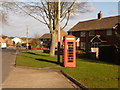 SY7286 : Broadmayne: phone box in Chalky Road by Chris Downer