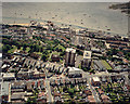 TQ8385 : Aerial view of Southend seafront: Leigh cockle sheds and Rectory Grove by Edward Clack