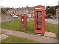 SY8488 : Bovington: postbox № BH20 209 and phone, Cologne Road by Chris Downer