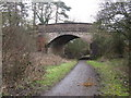 TQ1330 : The A 264 , Five Oaks Road, bridging the Downs Link path by Dave Spicer