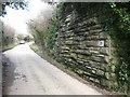 SW7753 : Old railway bridge abutment by Rod Allday