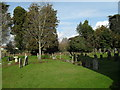 SU9006 : A verdant churchyard at  St Andrew, Tangmere by Basher Eyre