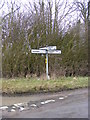 TM3373 : Roadsign at Crossways, Huntingfield by Adrian Cable