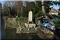 TQ5261 : War Memorial by the River Darent, Shoreham by Nigel Chadwick