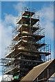 SO7433 : Bromesberrow church under scaffolding : Week 8