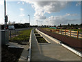 TL4461 : Guided Busway track at Kings Hedges Road (1) by Keith Edkins