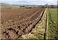SX3280 : Ploughed field and fence, Trewarlett by Derek Harper