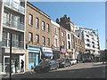 TQ3279 : Shops on Tabard Street, Southwark by Stephen Craven
