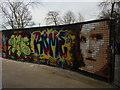 TQ2990 : Graffiti wall, Alexandra Park skatepark, North London by Julian Osley