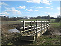 TQ5137 : Footbridge on the Kent and Sussex Border by David Anstiss