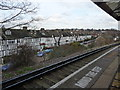 A view from one of the two platforms on the station looking out over Wimbledon.