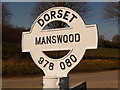 ST9708 : Manswood: finger-post detail by Chris Downer