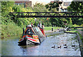SP1391 : Working boat at Minworth Top Lock, Birmingham by Roger  Kidd