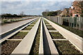 TL4363 : Cambridge-St.Ives Guided Busway at Histon by Rob Noble