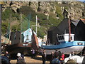 TQ8209 : Old Boats at Rock-A-Nore by Oast House Archive