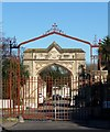 TQ3172 : Cemetery railings and entrance arch, Norwood High Street by Stephen Richards