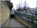 TQ2177 : Entrance to subway under the Great West Road, Chiswick by PAUL FARMER