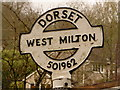 SY5096 : West Milton: finger-post finial by Chris Downer