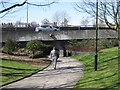 SP3378 : Approaching subway, Ringway Queens by Robin Stott