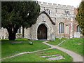 TL6706 : All Saints Church porch Writtle by PAUL FARMER