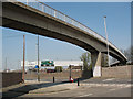TQ4078 : Footbridge over the A102 by Stephen Craven