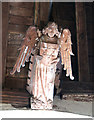 TF5617 : All Saints church in Tilney All Saints - C15 angel by Evelyn Simak
