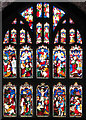 TF4710 : All Saints church in Walsoken - east window by Evelyn Simak