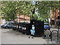 TQ2978 : Recycling bins in Herrick Street London by PAUL FARMER