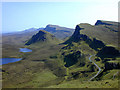 NG4468 : Landscape south of the Quiraing by Nigel Brown