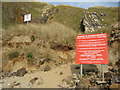 SW7657 : Warning signs, Penhale Sands by Philip Halling