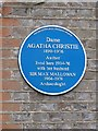 Photo of Agatha Christie and Max Mallowan blue plaque