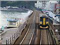 SX9676 : Class 153 (single carriage train) approaching Dawlish station : Week 19