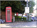 TM3973 : Telephone Box &amp; Queens Head Postbox by Adrian Cable