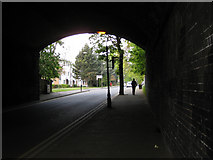 SP1196 : Park Road goes under the railway by Robin Stott