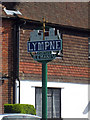 TR1134 : Lympne Village Sign by Oast House Archive