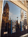 SK3587 : Sheffield: cashpoints and reflections in Pinstone Street by Chris Downer